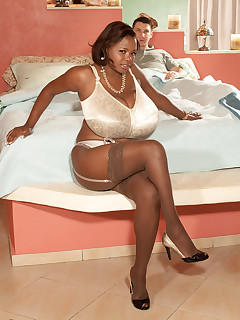 Black bbw pantyhose stockings