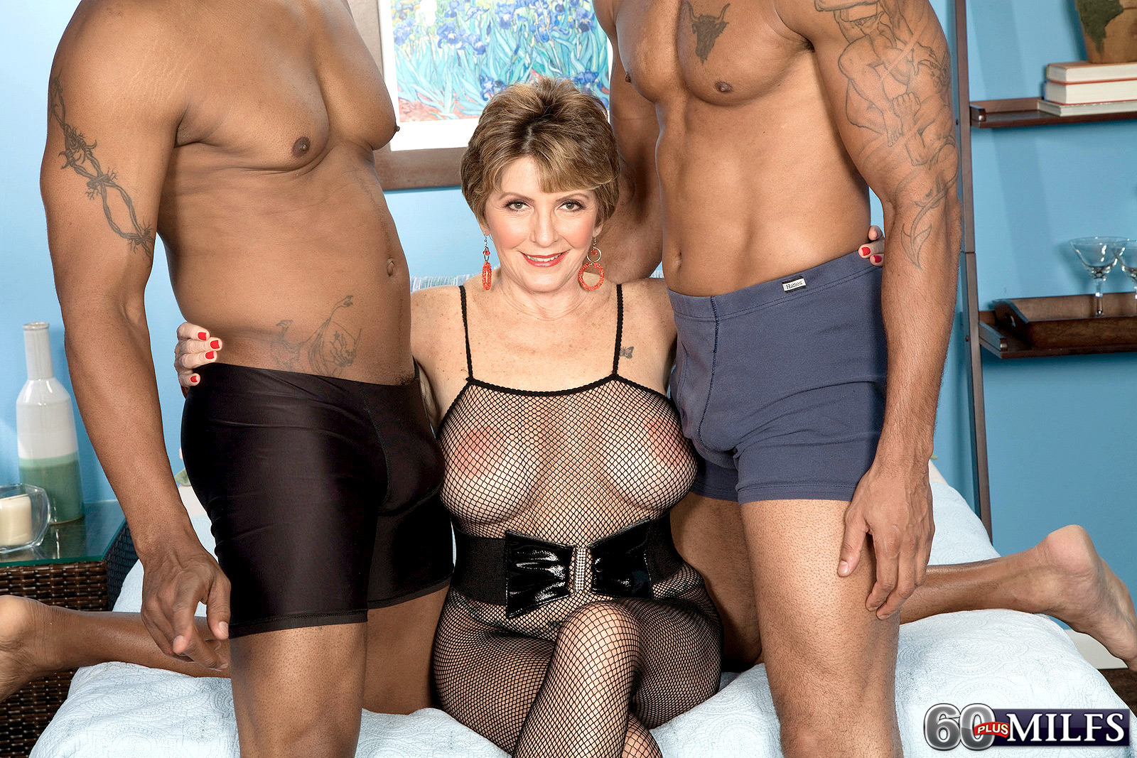 Bust mature need two big black cocks